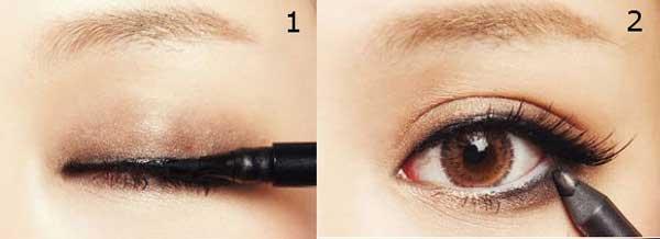 cách trang điểm mắt to