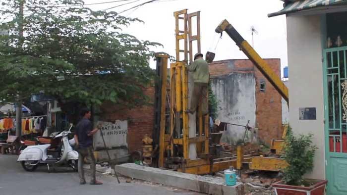 Ép cọc bê tông ở Biên Hòa