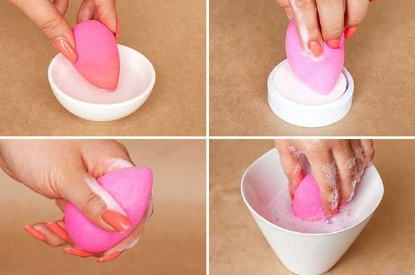 cách làm sạch dụng cụ trang điểm