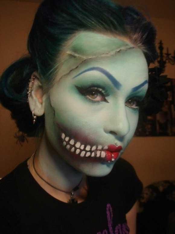 những kiểu trang điểm halloween