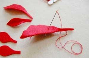 Làm quà noel bằng vải nỉ