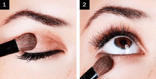 Trang điểm mắt màu đồng