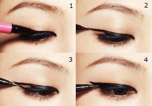 Trang điểm mắt một mí to tròn