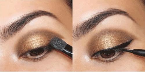 Trang điểm mắt nâu đồng