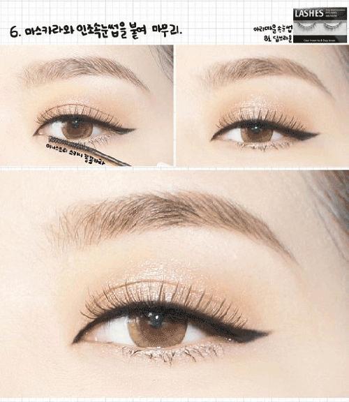 Các bước trang điểm mắt Hàn Quốc