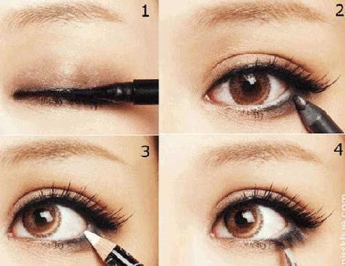 Trang điểm mắt dễ thương