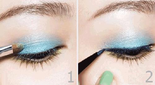 Trang điểm mắt xanh
