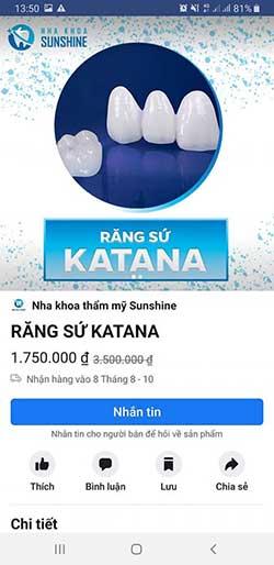 độ bền của răng sứ katana