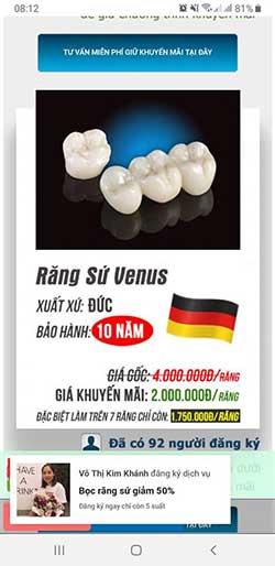 bọc răng sứ cả hàm giá bao nhiêu