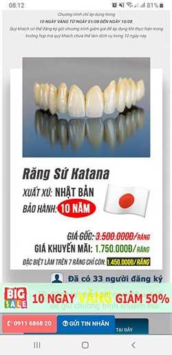 bọc răng sứ giá rẻ đà nẵng